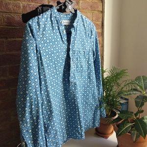 Madewell XS chamber/paint pattern tunic